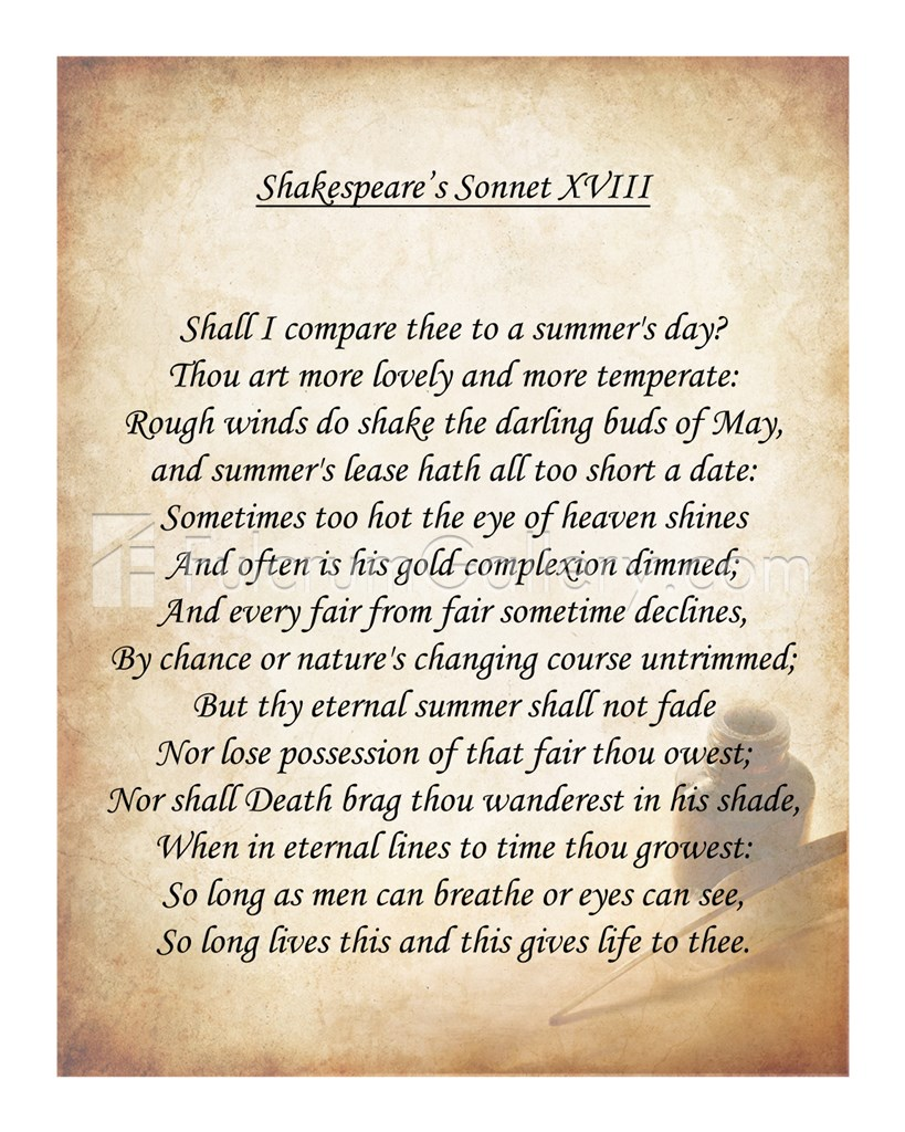 Sonnet 18 By William Shakespeare - Lessons - Tes Teach