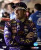 Jamie McMurray portrait with Crown Royal uniform with big grin