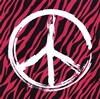 Zebra Peace - pink