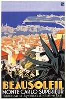 Beausoleil-Monte Carlo Superieur Framed Print