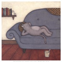 Lounging Cat Fine Art Print
