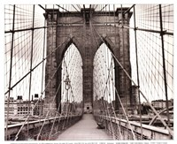 Brooklyn Bridge - sepia Framed Print