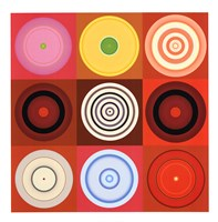 Red Circles Fine Art Print