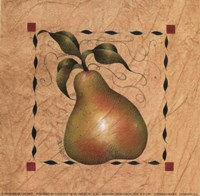 Stenciled Pear I Fine Art Print