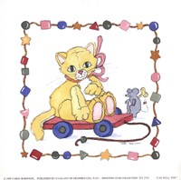 Cat Pull Toy Fine Art Print
