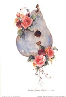 Birdhouse and Blossoms I Fine Art Print