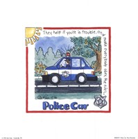 Police Car Framed Print
