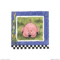 Oink Oink Framed Print