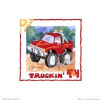 4 X 4 Truckin Framed Print