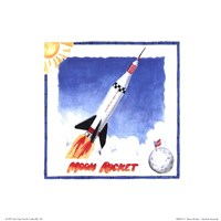 Moon Rocket Fine Art Print