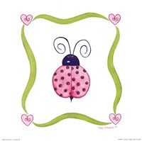 Lovebugs - Ladybug Framed Print