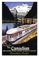 Canadian Pacific Train 1955 Framed Print