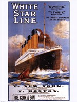 White Star Lines Fine Art Print