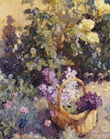Basket with Flowers Fine Art Print