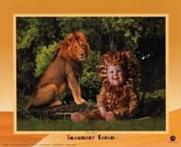 Imaginary Safari Lion Framed Print