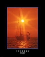 Success - orange sunset Framed Print