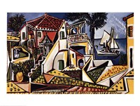 Paysage Mediterraneen Fine Art Print
