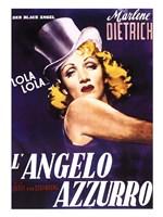 L'angelo Azzurro Framed Print