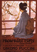 Pucini-Madama Butterfly Framed Print
