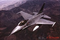 Airplane F-16 Falcon Wall Poster