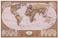 Map of the World (mollweide projection) Wall Poster