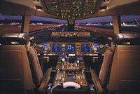 Airplane - Boeing 777-200 Flight Deck Framed Print