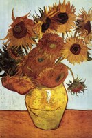 Vase with Twelve Sunflowers, c.1888 Wall Poster
