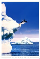 Penguin Flight Wall Poster