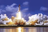 Space Shuttle Take Off Framed Print
