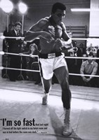 Mohammed Ali Training Framed Print