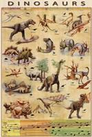 Dinosaurs Timeline Framed Print