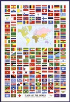 Flags of the World Framed Print