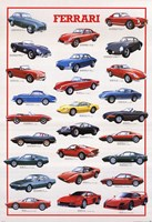 Ferrari Model History Framed Print