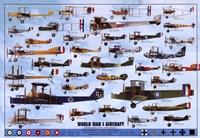 World War I Aircraft - blue Framed Print