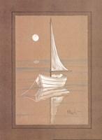White Sailboat Framed Print