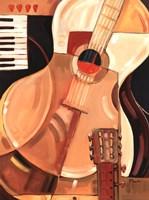 Abstract Guitar Fine Art Print