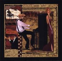 Jazz Piano - Petite Framed Print
