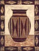 Tribal Urn I Framed Print