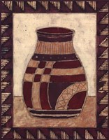 Tribal Urn III Framed Print