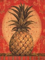 Grand Pineapple Red Fine Art Print