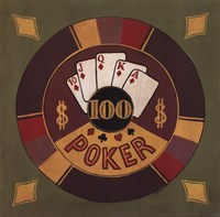 Poker - $100 Framed Print