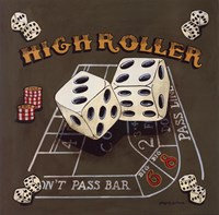 High Roller (Craps) Framed Print