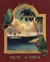 Hotel Oceano Framed Print