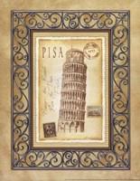 Pisa Postcard Framed Print
