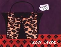Leopard Handbag IV Framed Print