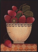 Cup O'Strawberries Framed Print