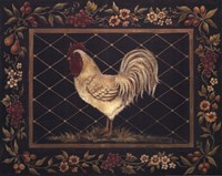 Old World Rooster Framed Print