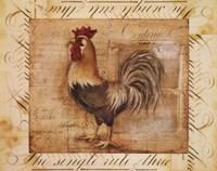 Rustic Farmhouse Rooster II Fine Art Print