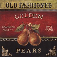 Golden Pears Fine Art Print