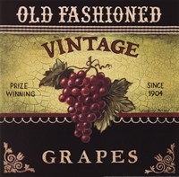 Vintage Grapes Fine Art Print